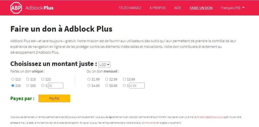 Est-ce qu'Adblock Plus est gratuit ?
